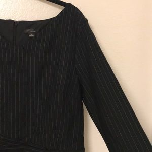 Ann Taylor Mid Sleeve Striped Structured Dress